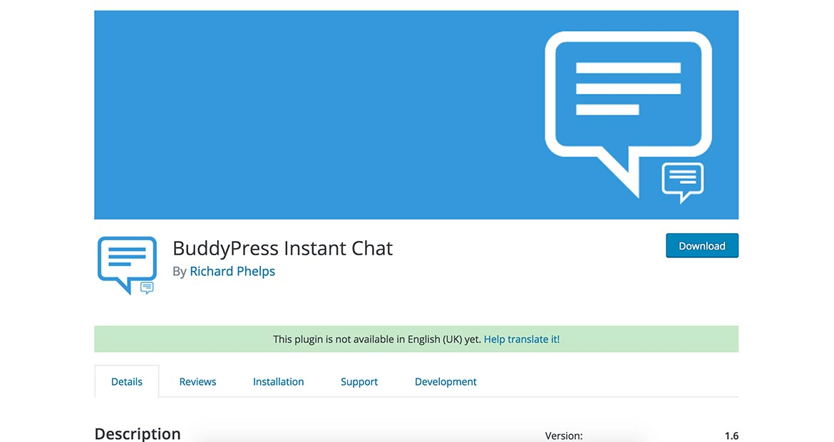 BuddyPress Instant Chat